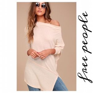 Free People Londontown Ribbed Tunic Scoop Neck
